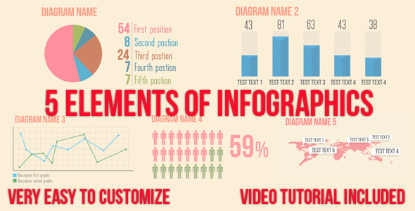 5 Video Infographics Elements