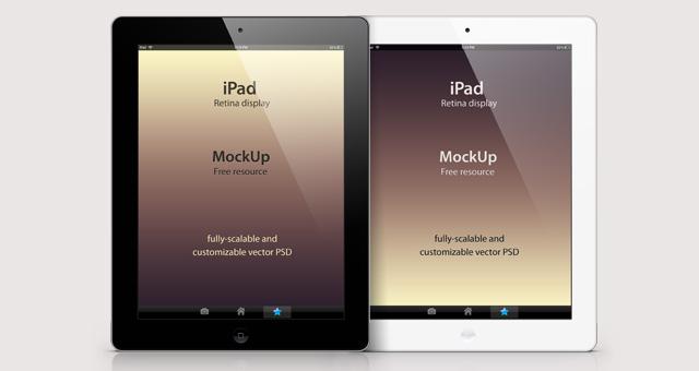 Free Psd iPad Retina Mockup Template