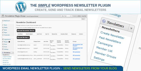 WordPress Email Newsletter Plugin