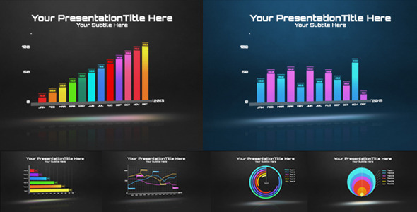 20 video infographics after efefcts projects from videohive