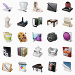 Art Professions Icon Set – 34 PNG Icons