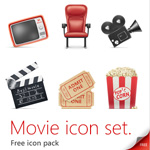 Free Movie Icon Set – PSD Source, PNG, JPG