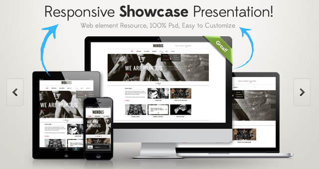 Free Responsive Showcase Psd