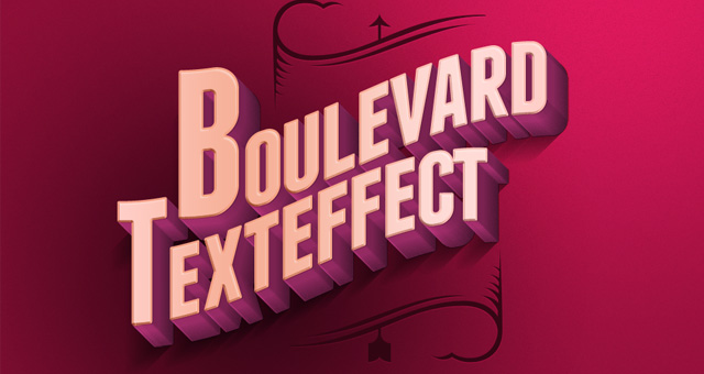 Psd Boulevard Retro Text Effect