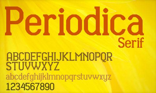 30 periodica serif