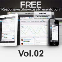 Free Responsive Showcase Psd Vol2