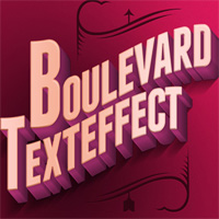 boulevard text effect type font character 3d relief