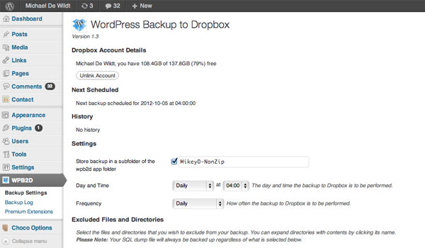 9 Of The Best Free Backup Plug-ins For WordPress 1