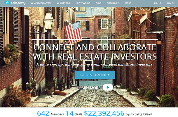 startup investors capital real estate property website