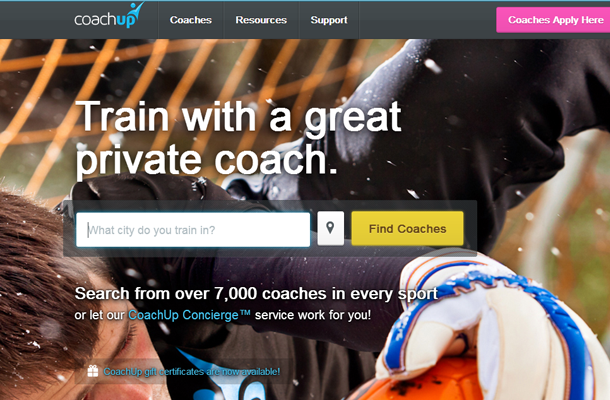 train startup coaches sports website layout