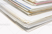Stacks of Business Documents