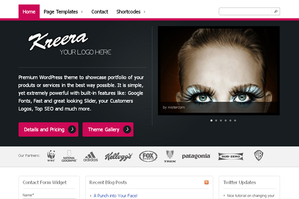 Kreera wp theme