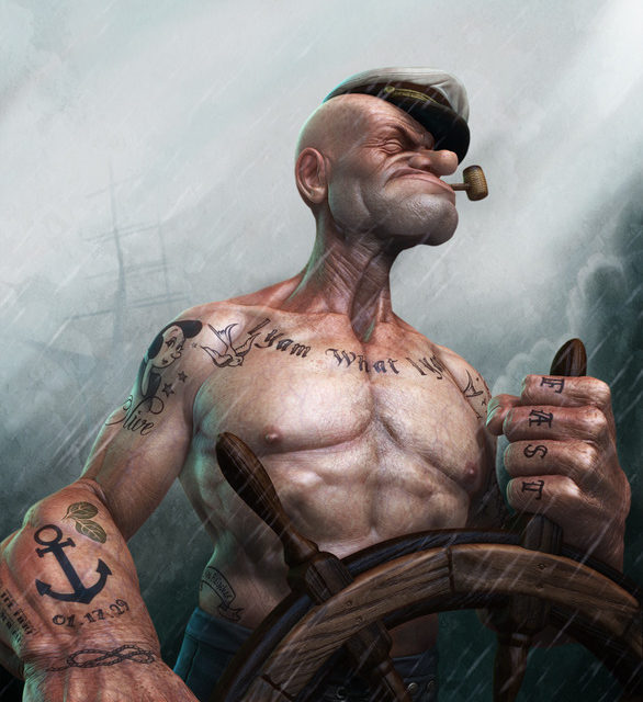 Realistic 3D Popeye by Lee Romao