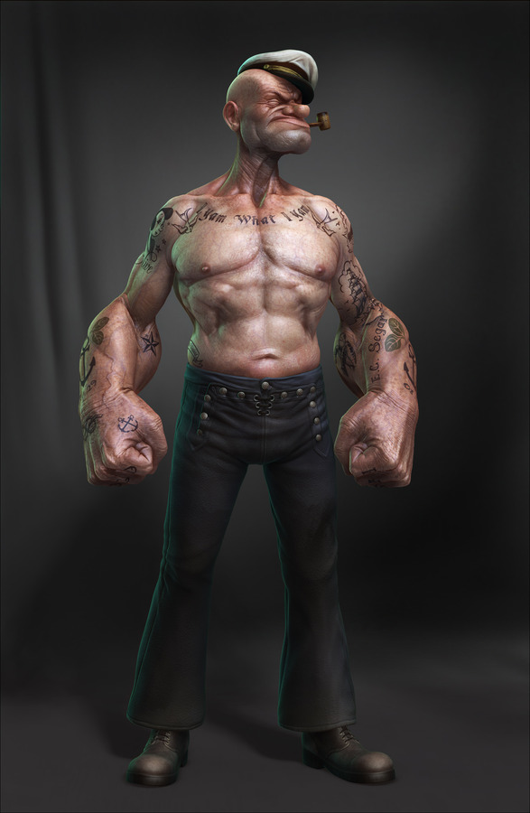 Realistic 3D Popeye by Lee Romao 2