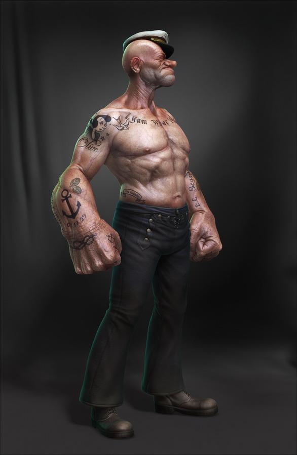 Realistic 3D Popeye by Lee Romao 4