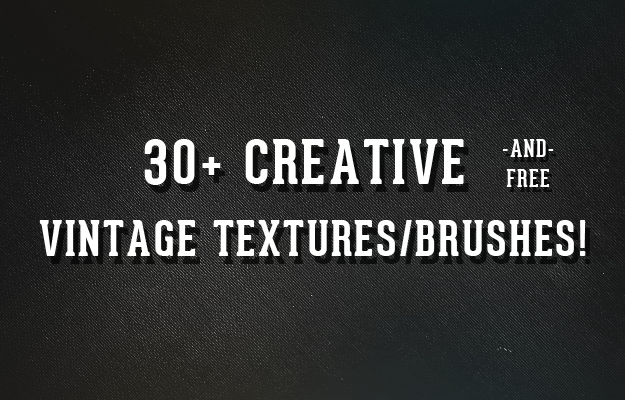 30+ Creative, Free Vintage Textures/Brushes 1