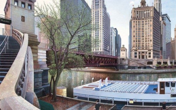 Realistic Urban Landscape Paintings of Chicago and New York by Nathan Walsh