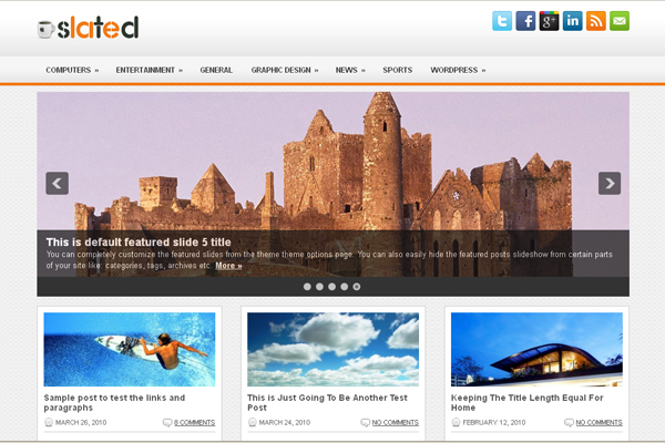 Slated free wp theme