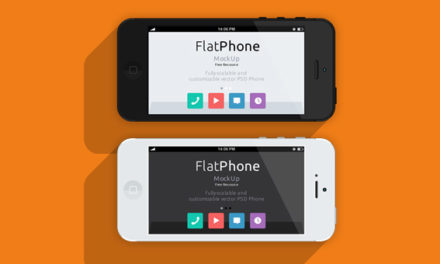Free iPhone 5 Psd Flat Design Mockup