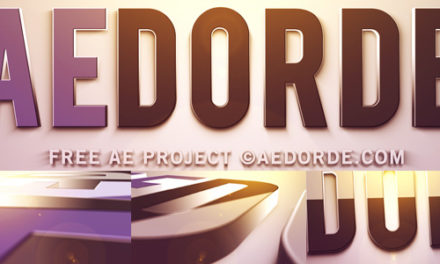 Free After Effects Project Huge 3D Extruded Logo
