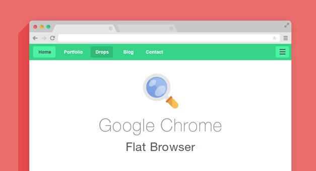 Free Flat Psd Browsers Set