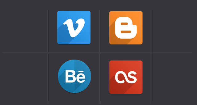 Free Psd Flat Social Icons