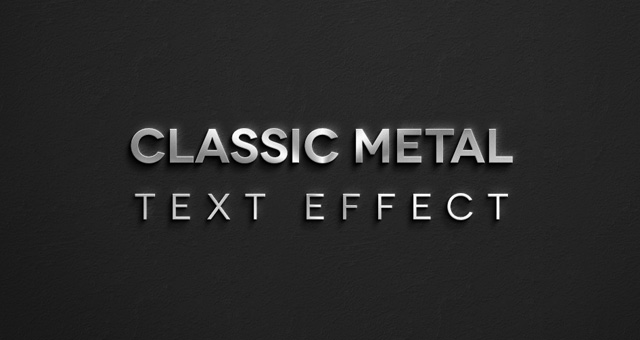 Free Classic Metal Psd Text Effect Title