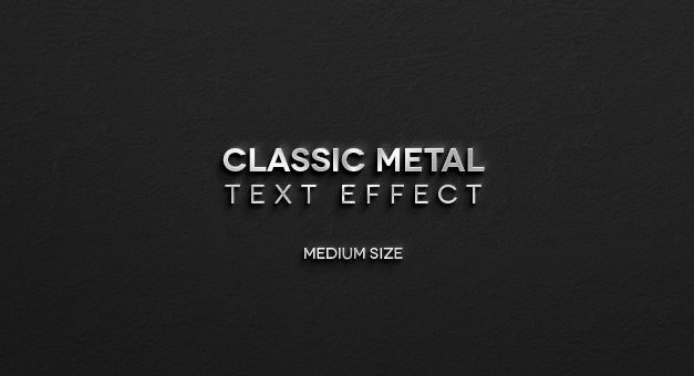 Free Classic Metal Psd Text Effect