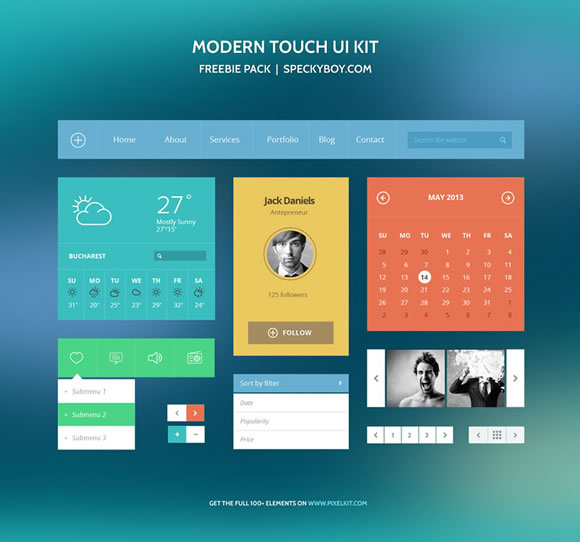 10 Super Useful Free Flat UI Kits