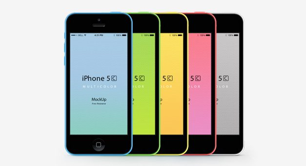 Free iPhone 5C Psd Vector Mockup