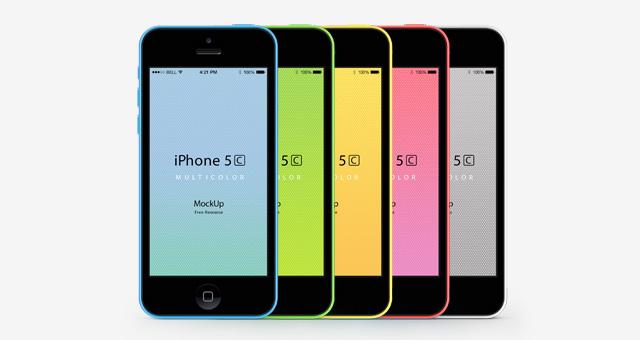 Free iPhone 5C Psd Vector Mockup