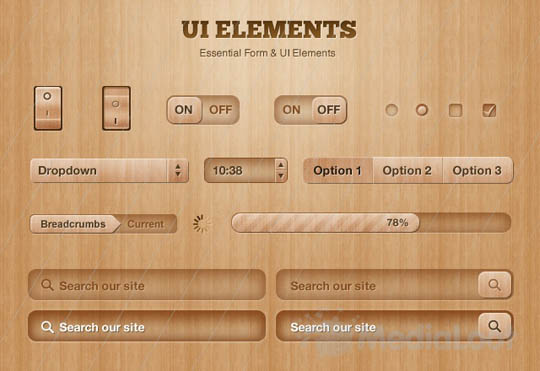 psd ui web elements