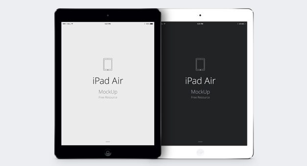 Free iPad Air Psd Vector Mockup