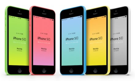 Free 3-4 iPhone 5C Psd Vector Mockup
