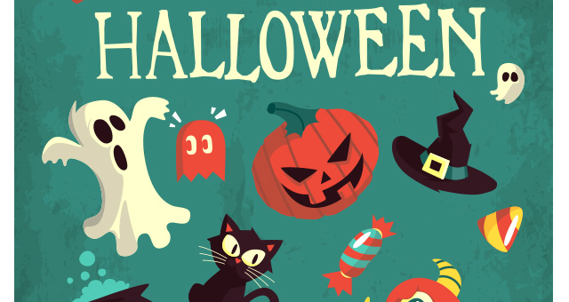 003-happy-halloween-terror-elements-vector-flat-scary-hollydays