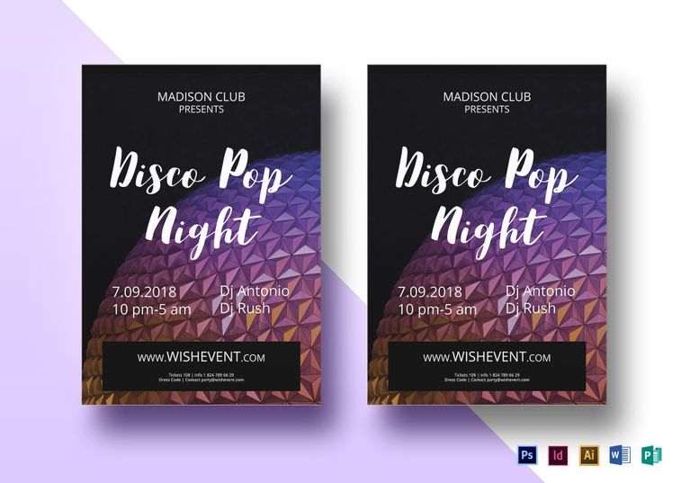 disco pop flyer