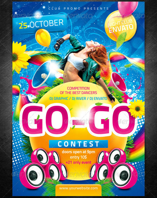 Dance Contest Flyer Template