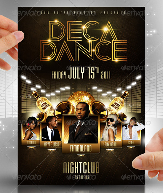 Deca Dance Flyer Template