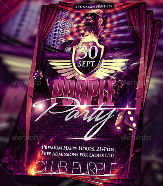 Purple Party Flyer
