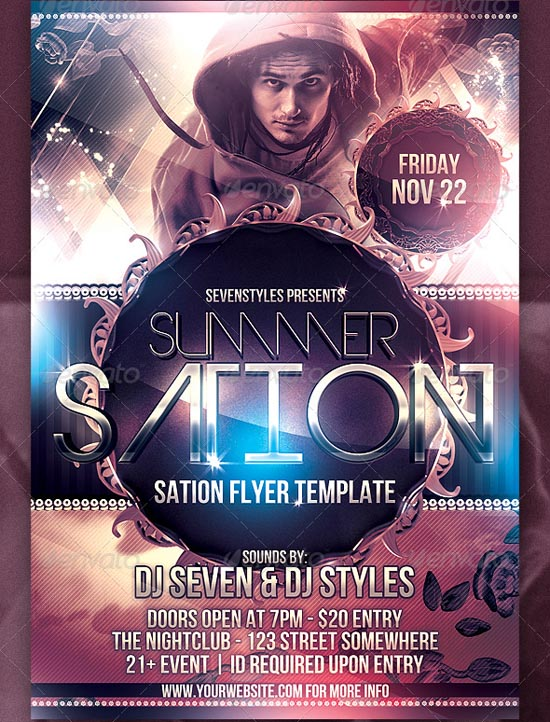 Sation Flyer Template