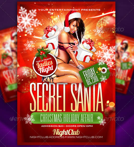 Secret Santa Flyer Template