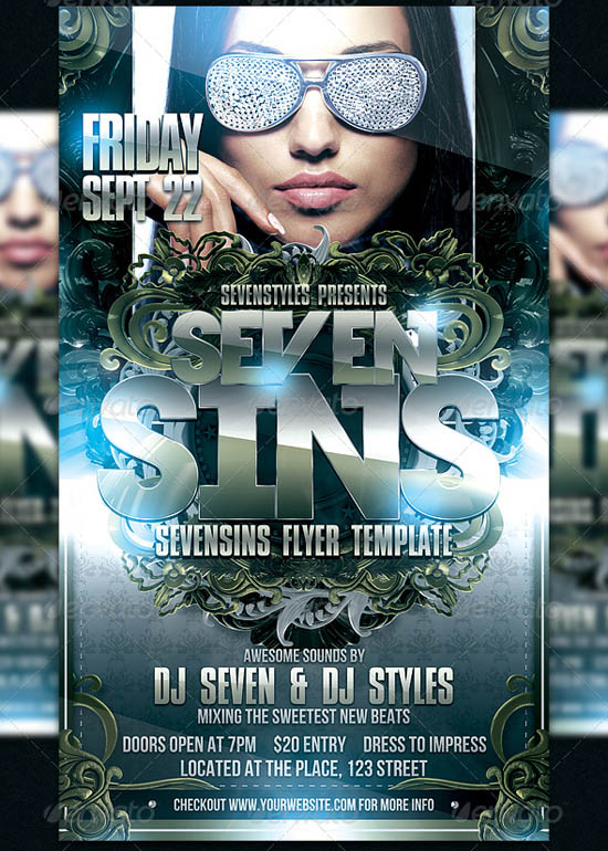 SevenSins Flyer Template
