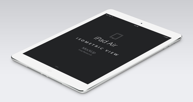 Free Psd iPad Air Perspective Mockup