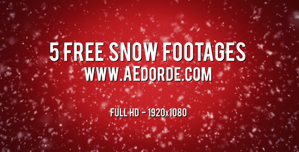 5 Free Snow Footages from AEdorde.com