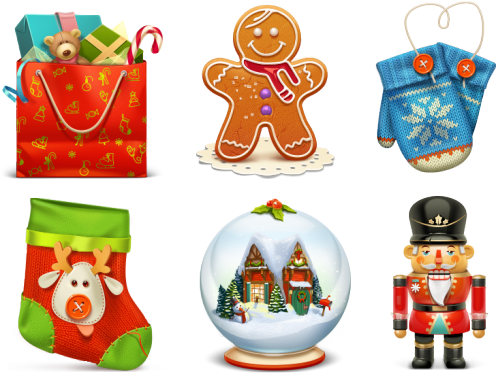 Christmas Icons Png.Free Christmas Icon Set
