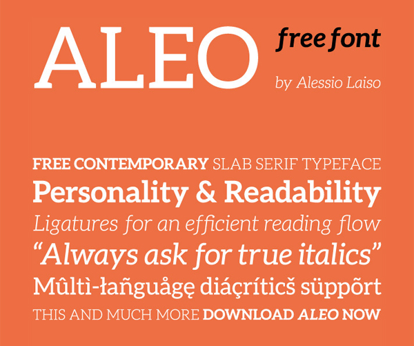 40 Free Fonts For Flat Design 32