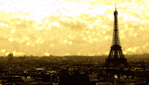 Yellow bokeh eiffel tower wallpapers free download hi res