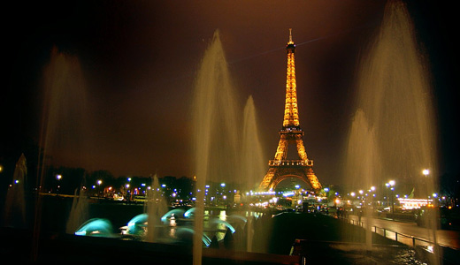 Night fountain eiffel tower wallpapers free download hi res