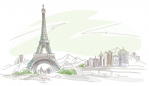 Drawing eiffel tower wallpapers free download hi res
