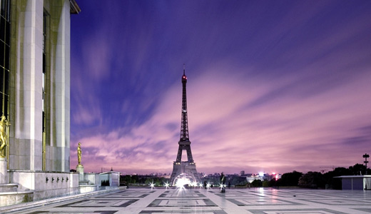 Purple sky eiffel tower wallpapers free download hi res